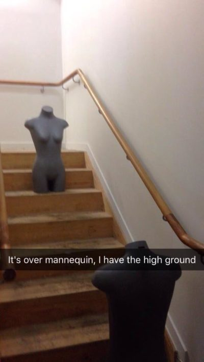 Don't try it mannequin