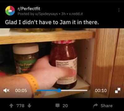 Storing jam
