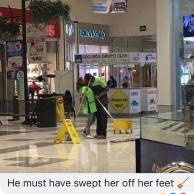 Even the floor is wet