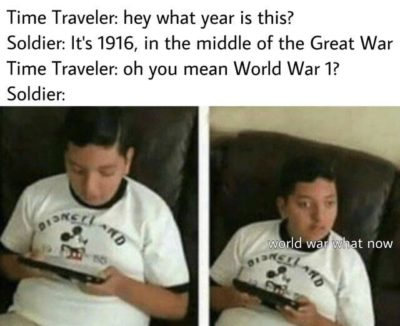 World war what now?