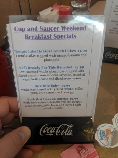 The names of these specials