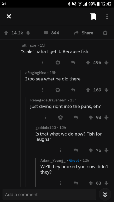 Deep sea comment dive