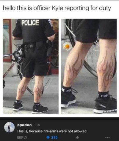 Fire legs