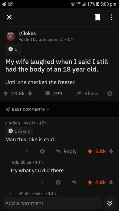 Cool pun