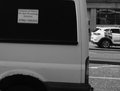 Plumber's van in Edinburgh.