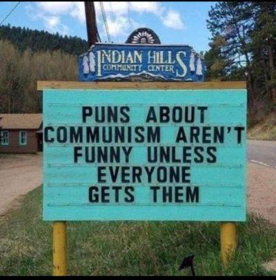 Puns for all.