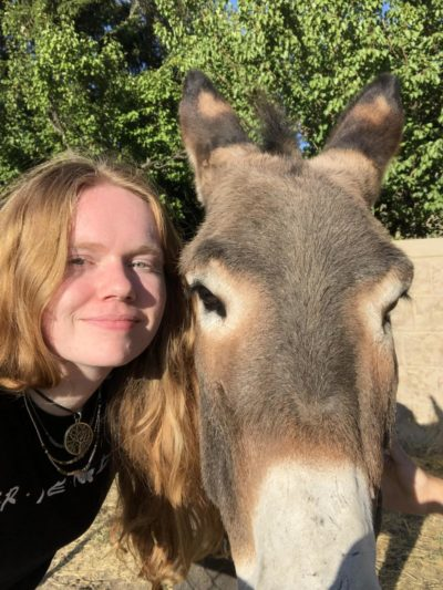i made a new friend! she's kind of an ass