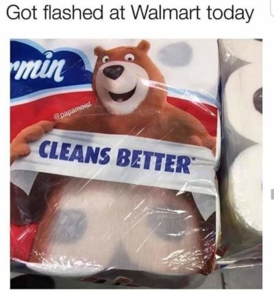 Bear chested at Wal-Mart