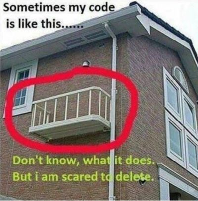 Sometimes my code is like…