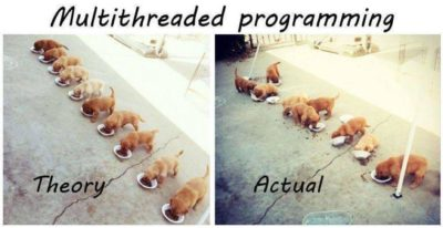 Multithreaded programming – theory vs actual