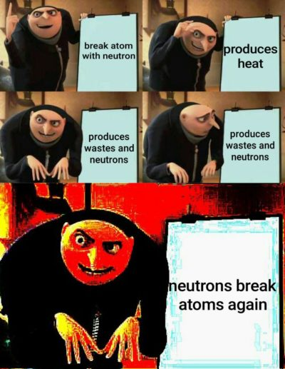 I used memes to explain nuclear fission at college