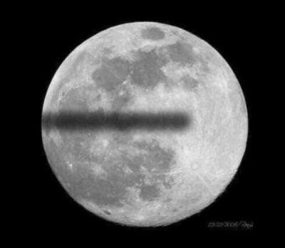 A Flat Earther's idea of a Lunar Eclipse