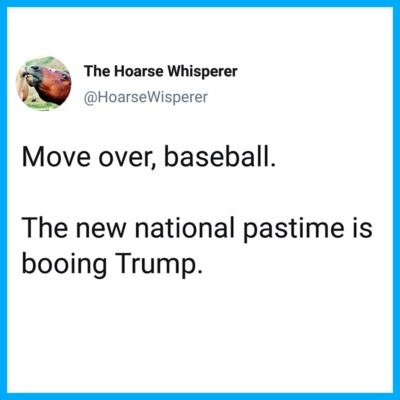 We have a new national pastime…