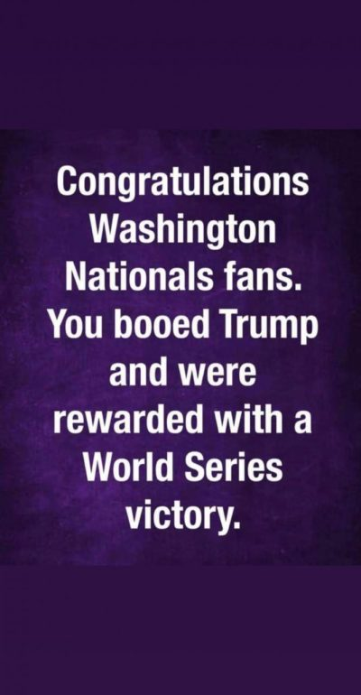 Something good came out of Trump attending a World Series game