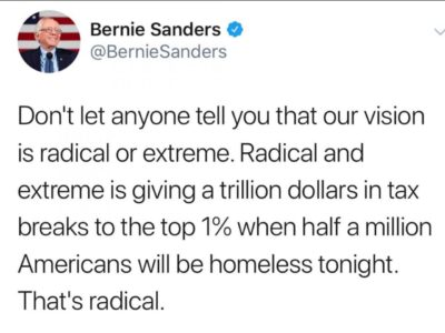Bernie ain't the radical one