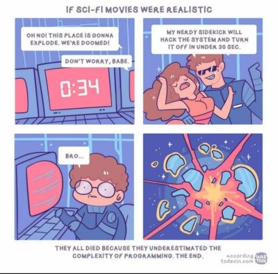 """If sci-fi movies were realistic"""