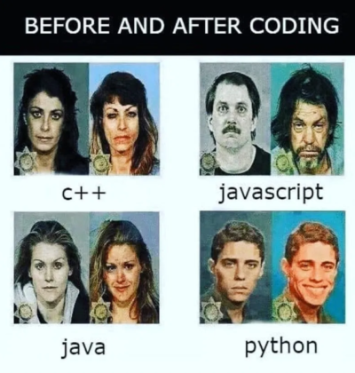 before and after coding: