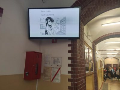 My school is anime and programing friendly