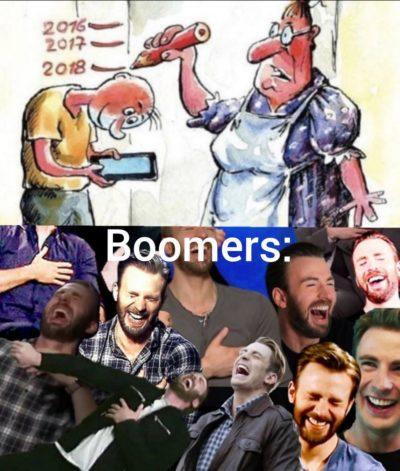 Phone bad boomer laugh haha