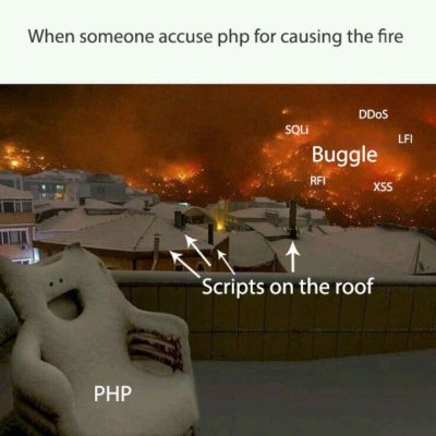 When people complain about php's security, i need this picture to explain the scenario