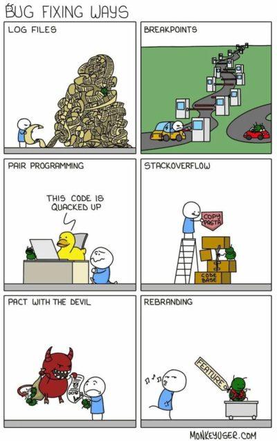 Fixing bugs…