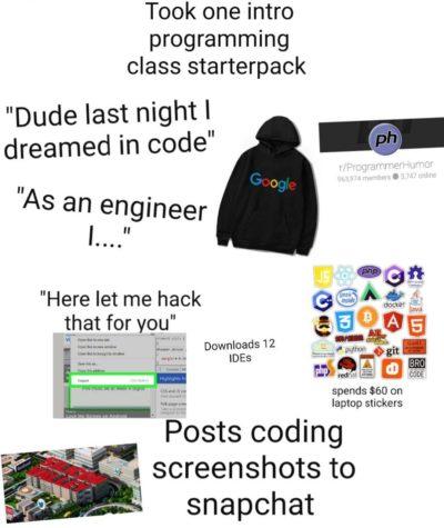 Programmer starter pack