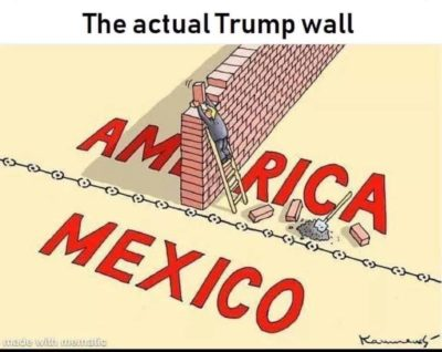 The actual Trump wall