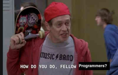 Me after finishing an introductory lesson on HTML pretending to understand the posts here
