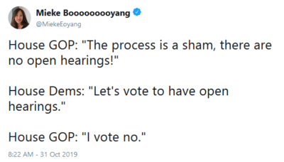 "House GOP: ""The process is a sham!…"""