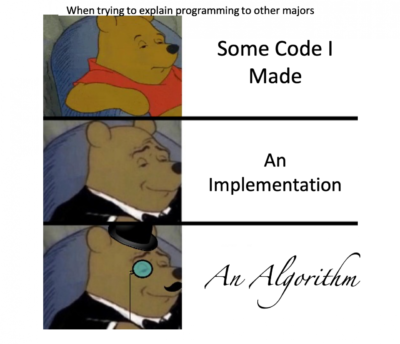 Explaining code to other majors