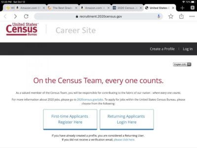 Applying for a job with the Census: