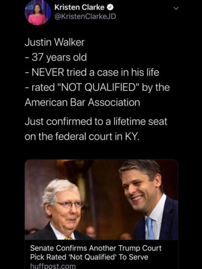 He just happens to be a former clerk for Kavanaugh…