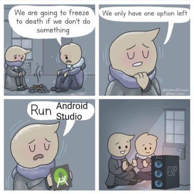Android Studio – Turning a useless PC into a useful heater.