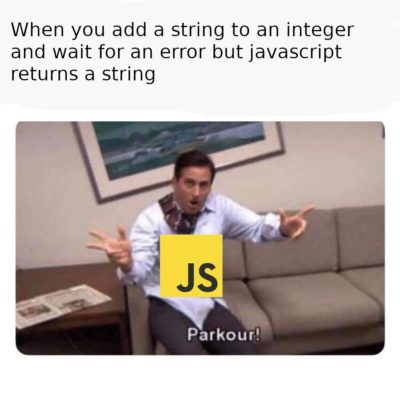 Sometimes JS does somersaults too.