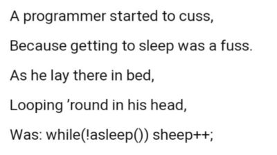 While(!asleep()){sheep++;}