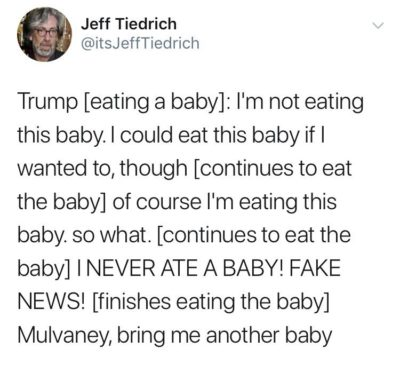Trump nom noms on baby