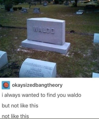 Looks like Waldos parents finally found him