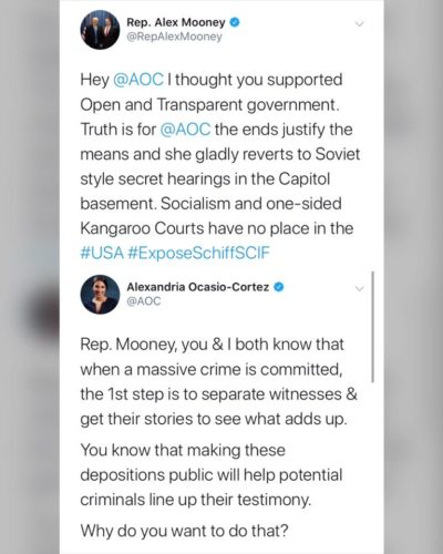 AOC owns Republican Rep Alex Mooney