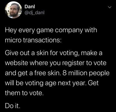 Funny idea. Excellent idea.