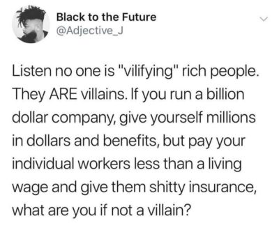 "No one is ""vilifying"" the rich"