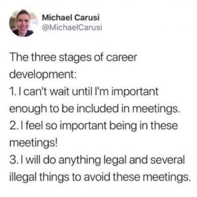 Meetings everyone!