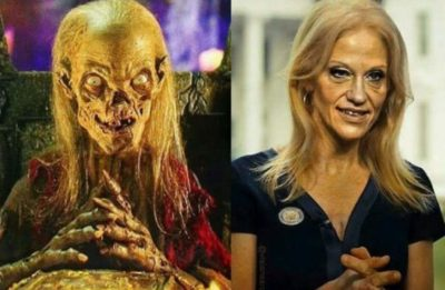 Kellyanne Crypt Keeper wishes everyone a Happy Halloween…