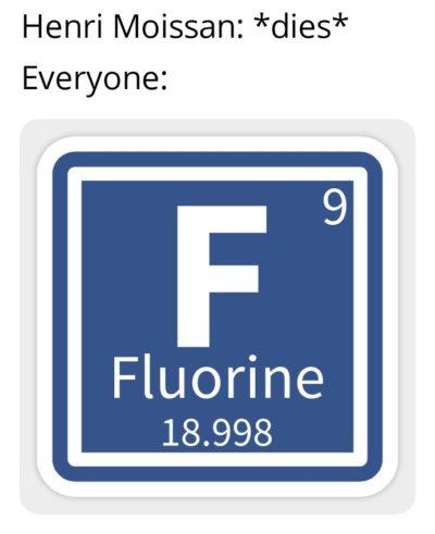 Oxygen Oxygen Fluorine