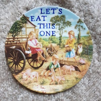 it's a plate!