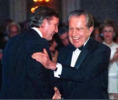The most corrupt president in American history. Also pictured: Richard Nixon.