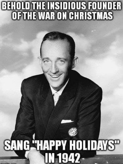 Bing Crosby, triggering snowflakes for 77 years