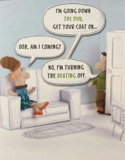 Haha wife cold now