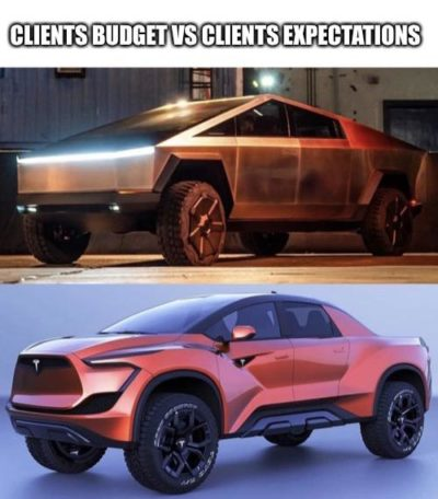 Clients budget vs clients expectations