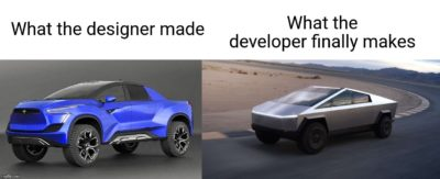 What the developer makes vs What the designer made