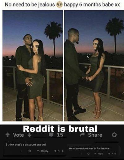"""""""Reddit is brutal""""."""